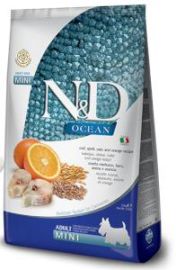 N&D dog LG OCEAN ADULT MINI CODFISH/ORANGE