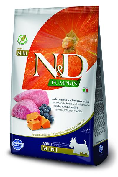 N&D dog GF PUMPKIN ADULT MINI lamb/blueberry