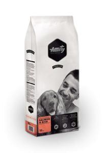 AMITY premium pies SALMON/ryż