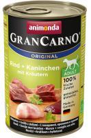 Animonda dog konserwa Gran Carno wołowina/królik/zioła