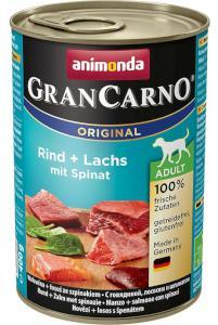 ANIMONDA konserwy dla psa Gran Carno z wołowiną / łososiem / szpinakiem