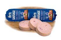 BRIT dog  sausage TURKEY/rice 800g