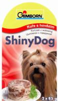 SHINY dog konz. kurczak wołowina 2x85g