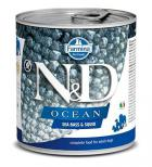 N&D dog OCEAN konz. ADULT sea bass/squid