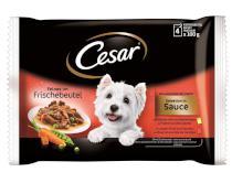 CESAR kapsa 4 x 100 g kurczaka / Beef