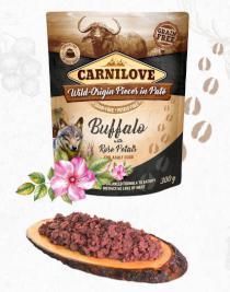 CARNILOVE dog pouch PATÉ BUFFALO/rose petals