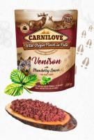 Kieszeń dla psa CARNILOVE PATÉ VENISON / liście truskawki