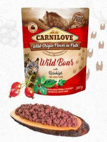 CARNILOVE dog  kapsa  PATÉ WILD BOAR/rosehips