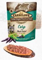 CARNILOVE dog pouch  PATÉ CARP/black carrot