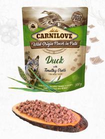 CARNILOVE dog pouch  PATÉ DUCK/timothy grass