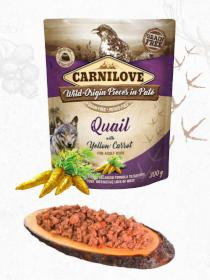 CARNILOVE dog pouch  PATÉ QUAIL/yellow carrot