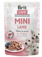 BRIT CARE dog  MINI pouch PUPPIES  lamb