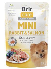 BRIT CARE dog  MINI pouch ADULT  rabbit/salmon