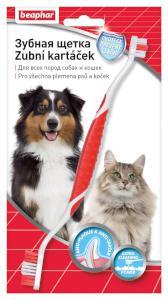 Beaphar Dog Dwustronna szczoteczka do zębów