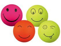 ZABAWKA Smiley gumowa piłka mech