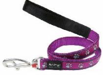 Smycz RD PAWPRINTS purple